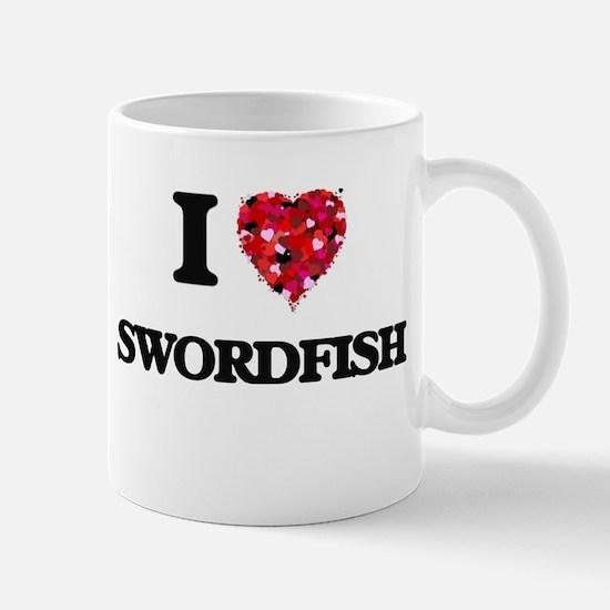 I Love Swordfish food design Mugs
