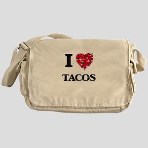 I Love Tacos food design Messenger Bag