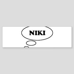 Thinking of NIKI Bumper Sticker