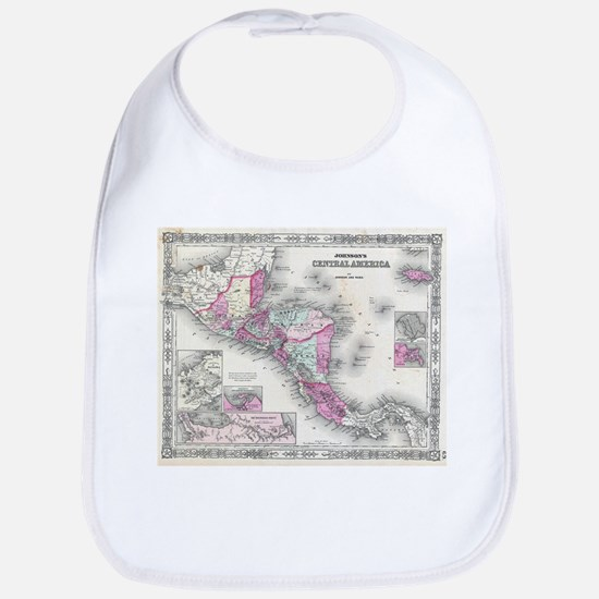 Vintage Map of Central America (1864) Bib