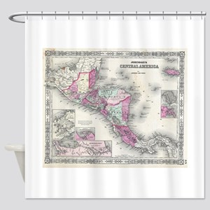 Vintage Map of Central America (186 Shower Curtain