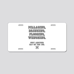 PILLAGING ETC CROSSBONES - Aluminum License Plate