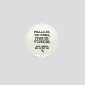PILLAGING ETC CROSSBONES - JUST ANOTHE Mini Button