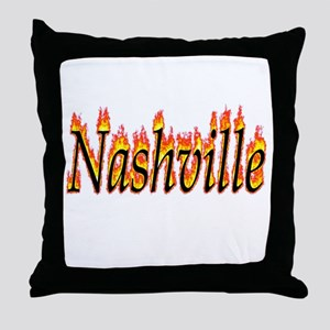 Nashville Flame Throw Pillow