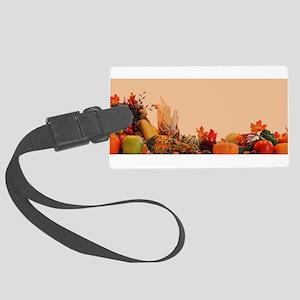 Cornucopia For Thanksgiving Large Luggage Tag