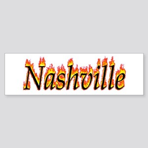 Nashville Flame Bumper Sticker