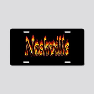 Nashville Flame Aluminum License Plate