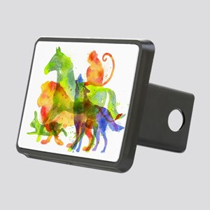 Colorful Animals Overlay Rectangular Hitch Cover