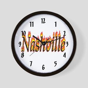 Nashville Flame Wall Clock