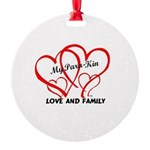My Para-Kin Christmas Round Ornament