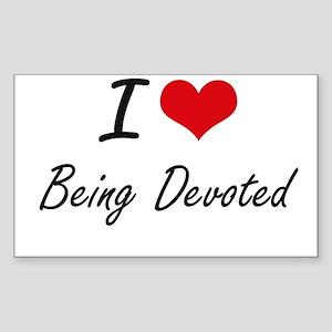I Love Being Devoted Artistic Design Sticker