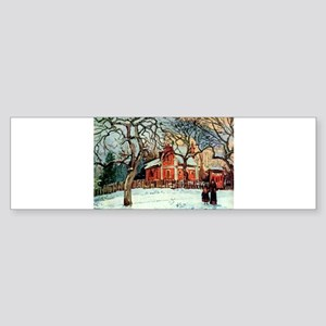 Camille Pissarro - Chestnut Trees, Bumper Sticker