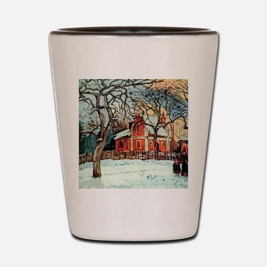 Camille Pissarro - Chestnut Trees, Louv Shot Glass