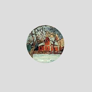 Camille Pissarro - Chestnut Trees, Lou Mini Button
