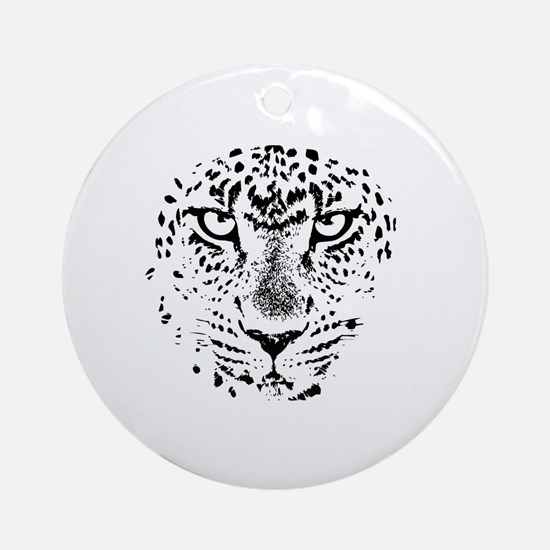 Cute Jaguar Round Ornament