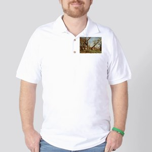 Camille Pissarro - Chestnut Trees at Lo Golf Shirt