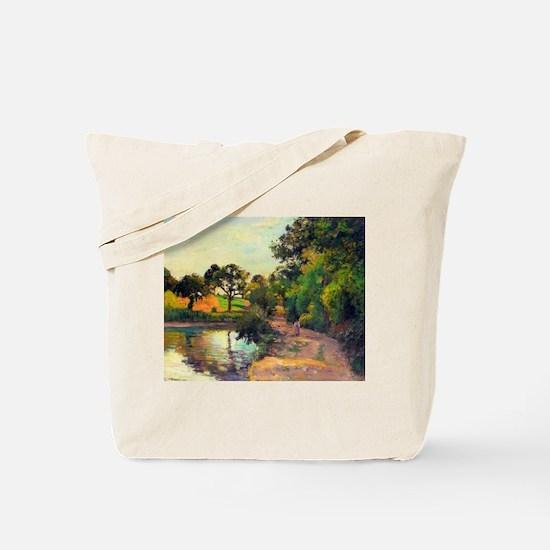 Camille Pissarro - Bridge at Montfoucault Tote Bag