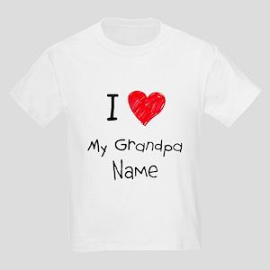 I love my grandpa insert name Kids Light T-Shirt
