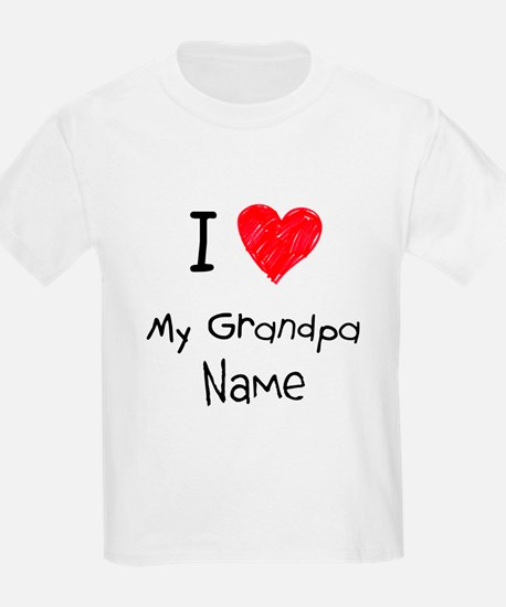 I love my grandpa insert name T-Shirt