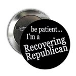 Recovering Republican (pack of 10 buttons)