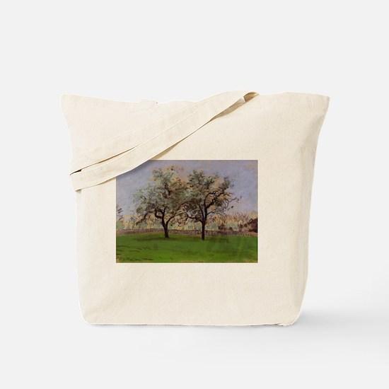 Camille Pissarro - Apples Trees at Pontoi Tote Bag