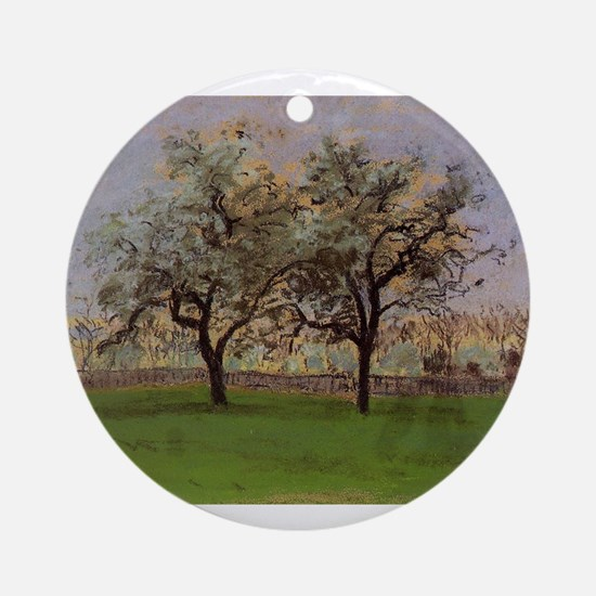 Camille Pissarro - Apples Trees at Round Ornament