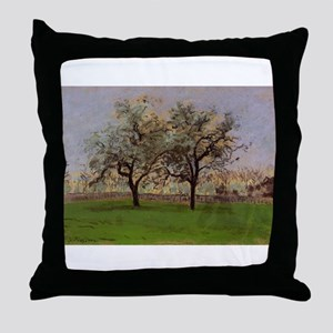 Camille Pissarro - Apples Trees at Po Throw Pillow