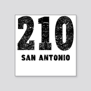 210 San Antonio Distressed Sticker