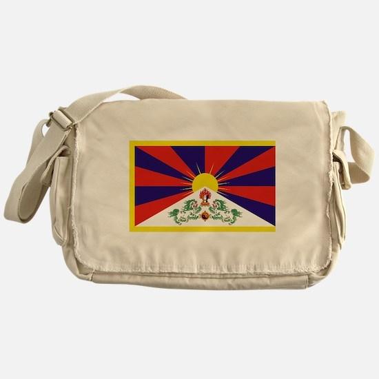 Tibetan Free Tibet Flag - Peu Rangze Messenger Bag