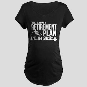 Ski Retirement Plan Maternity T-Shirt