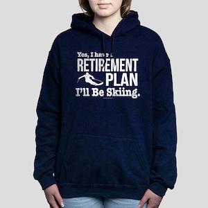 Ski Retirement Plan Women's Hooded Sweatshirt
