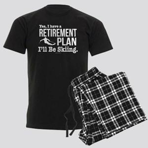 Ski Retirement Plan Men's Dark Pajamas