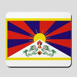 Tibetan Free Tibet Flag - Peu Rangzen Mousepad