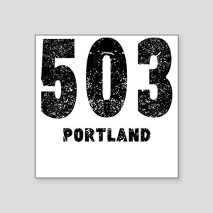 503 Portland Distressed Sticker