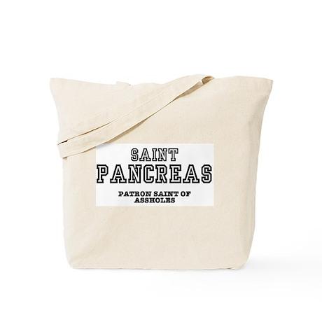 saint pancreas patron saint of assholes tote bag by. Black Bedroom Furniture Sets. Home Design Ideas
