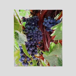 Vineyard Grapes Throw Blanket