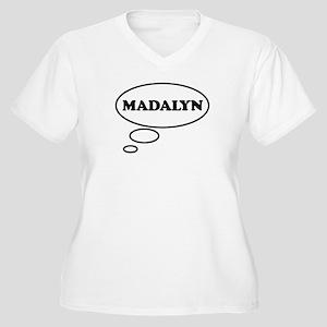 Thinking of MADALYN Women's Plus Size V-Neck T-Shi