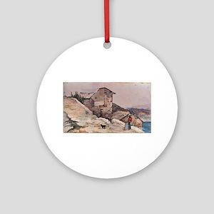 Giovanni Fattori - Gehöft in den Hü Round Ornament
