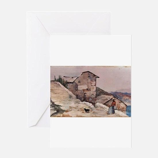 Giovanni Fattori - Gehöft in den Hü Greeting Cards