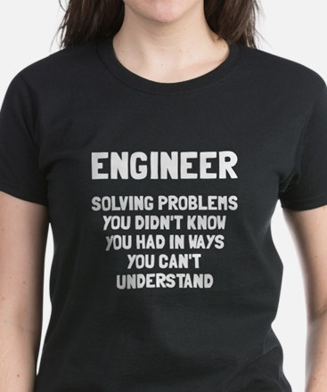 Engineer solving problems Women's Dark T-Shirt