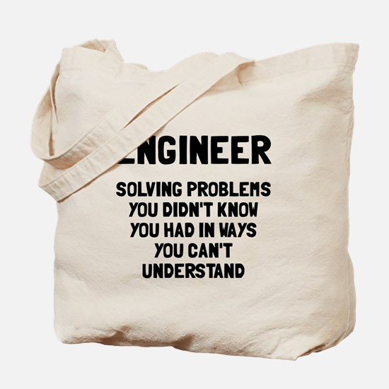 Engineer solving problems Tote Bag