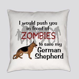 GSD vs Zombies Everyday Pillow