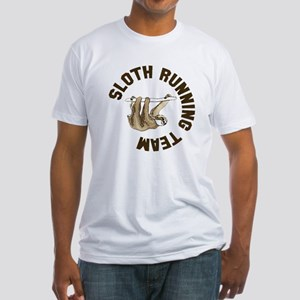 Sloth running team Fitted T-Shirt