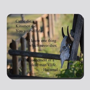 Havamal Saying Mousepad