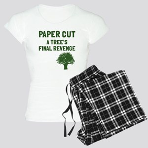 Paper cut tree's revenge Women's Light Pajamas