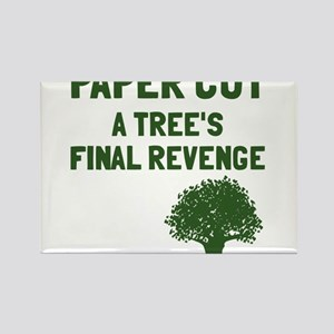 Paper cut tree's revenge Rectangle Magnet