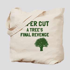Paper cut tree's revenge Tote Bag