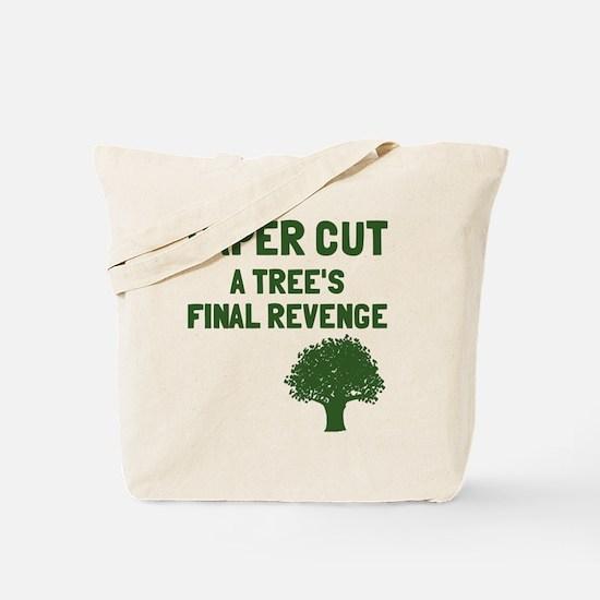 Paper cut tree's revenge Tote Bag