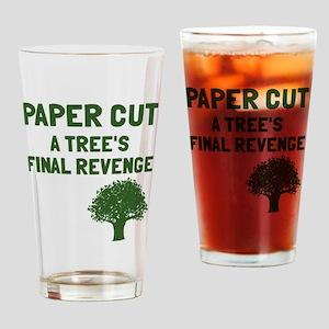 Paper cut tree's revenge Drinking Glass