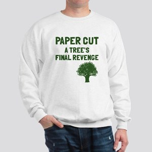 Paper cut tree's revenge Sweatshirt